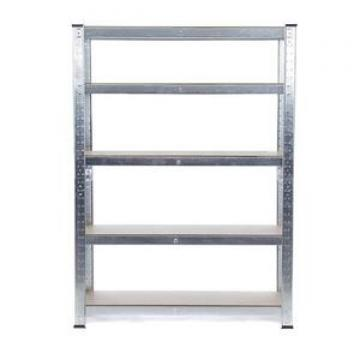 Storage Solutions 180cm x 90cm x 40cm / Galvanized 5 Tier Racking Unit